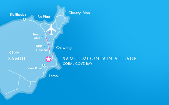 Map of Samui Mountain Village - Koh Samui